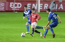 Fran Carbia, durante el Nàstic-Badalona, que acabó con empate sin goles y en el cual Carbia disputó 27 minutos.