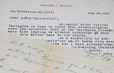 Cartes que Bryant i Schulten van escriure a Mezquida.
