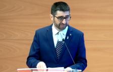 Jordi Puigneró, durant la roda de premsa.