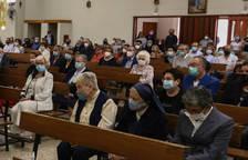 Algunes de les germanes, en la missa de comiat dels Pares Paüls.