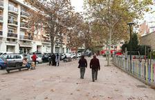 Una imatge d'arxiu de la plaça, al barri Niloga.