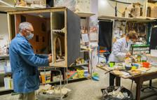 El Mercat de Torreforta muestra un belén hecho con piezas de Playmobil
