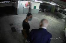 Imagen de uno de los robos en un parking el día 29 de julio.