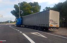 Detingut a l'Ametlla de Mar un camioner begut que circulava de manera temerària