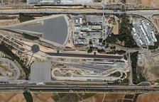 Vista aèria dell circuit de l'empresa Idiada a la Bisbal del Pênedès.