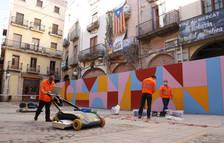 Valls analitza el subsòl que amaga l'emblemàtica plaça de l'Oli