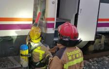 Restablecida la circulación entre Tarragona y PortAventura después de un incendio en un tren