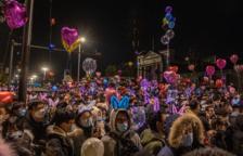Wuhan celebra l'arribada del 2021 amb els carrers plens