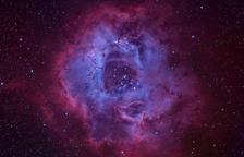 Una fotografia de la Nebulosa de la Roseta presa des de Prades, candidata a fotografia del dia de la NASA
