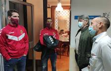 Una comitiva del Nàstic visita els nens hospitalitzats als centres de Tarragona