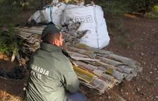 Localizan un depósito ilegal con más de 6.000 kilos de uralita que contenía amianto en Campredó