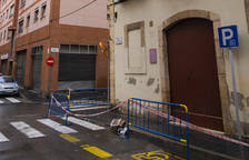 Cau part d'un balcó al carrer Misericòrdia de Tarragona