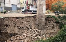 El temporal s'emporta un mur de contenció a un dels torrents de la ciutat de Valls