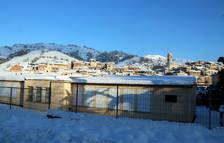 Dos centros educativos del Priorat continúan cerrados por peligro de nieve y hielo del temporal