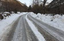 Tres carreteras cortadas en la demarcación de Tarragona por el temporal Filomena
