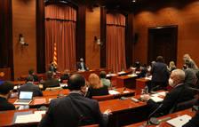 Pla obert de la reunió de la taula de partits sobre el 14-F al Parlament de Catalun