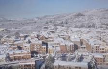 El espectáculo de Prades nevado y a vista de dron
