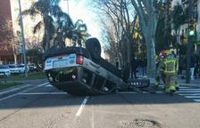 Imagen del estado en que quedó el vehículo después del accidente