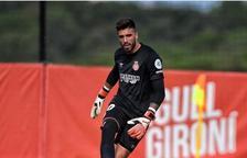 El porter José Aurelio Suárez amb la samarreta del Girona