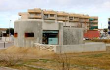 Plano general del bunker reconstruido parcialmente en Cunit.