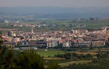 Vista general de Vilafranca del Penedès, des d'una muntanya propera.