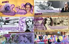 Pintan murales no sexistas en todas las escuelas de la Terra Alta
