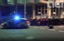 El manifestante atropellado por la Guardia Urbana estudia denunciar el cuerpo