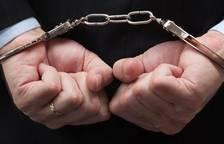 Imatge d'arxiu d'un detingut.