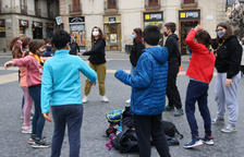 Els esplais reivindiquen amb protestes arreu de Catalunya que són essencials i que un 20% segueixen tancats