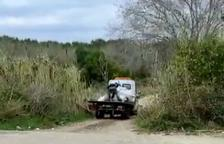 Imatge del camió que va enxampar l'Urbana.