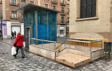 Empiezan los trabajos de mejora de las escaleras del aparcamiento de la plaza Corsini