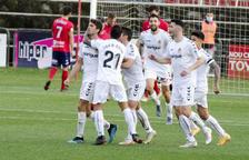 Els jugadors del Nàstic, celebrant un gol.