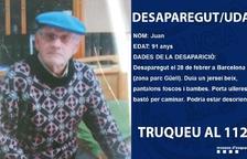 Encuentran a un hombre de 91 años desaparecido en la zona del parque Güell