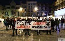 Imatge de la protesta a la plaça Mercadal.