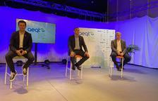 El president de l'AEQT, Rubén Folgado, i els vicepresidents Ignasi Cañagueral i José Manuel Segura durant la presentació del pla.