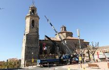 S'inicien els treballs per reconstruir la coberta de l'església parroquial de Constantí