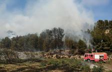Controlado el incendio de vegetación de Miravet