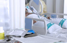 Imagen de un enfermo covid-19 ingresado en el Taulí.