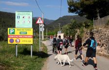 Alcover restringe el paso de vehículos para regular la afluencia de excursionistas al Vall del Glorieta