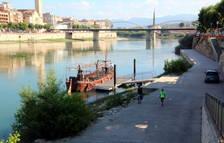 Vistas general del río Ebro en Tortosa.