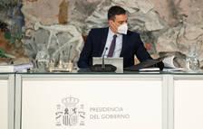 El presidente del gobierno español, Pedro Sánchez, en la reunión del Consejo de Ministros.