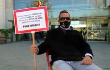 El president de l'oci nocturn de Salou abandona la vaga de fam per problemes de salut