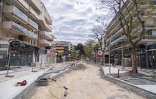 Las aceras de la calle Carles Buïgas de Salou se abrirán el 28 de mayo