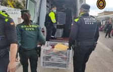 La Guàrdia Civil va realitzar tres inspeccions al mercat el passat divendres.