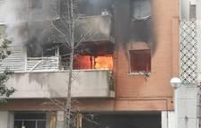 Se incendia un piso cerca de la estación de trenes de Vila-seca