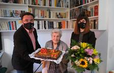 La Pobla de Mafumet felicita a Maria Fortuny Dalmau por sus 100 años