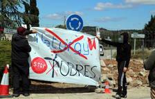 El Ayuntamiento y los vecinos de Gandesa se oponen a las obras de Naturgy para hacer pasar grandes molinos