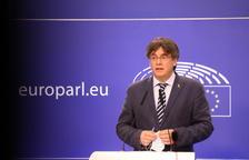 Plano medio del eurodiputado de Junts Carles Puigdemont.