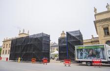 El acceso al recinto de la Tabacalera fue cortado y ocultado durante las dos semanas de grabación.