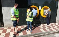 Primer día de patrullas vecinales en los cajeros de Sant Pere i Sant Pau de Tarragona